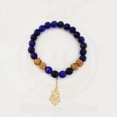 Bracelet swarovski avec une pendentif en Or 18 carats