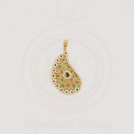 Chaîne pendentif Taoussa or 18 carats