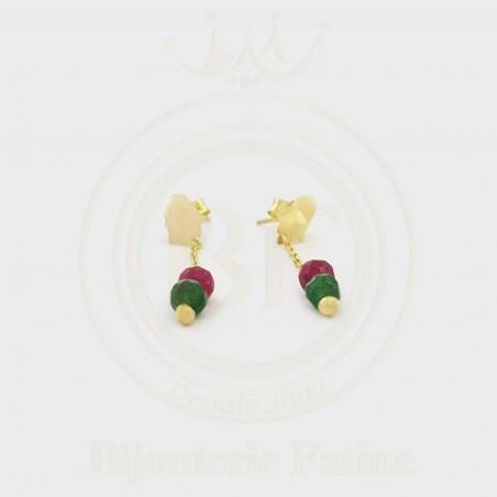 Boucles en design original en Or 18 carats