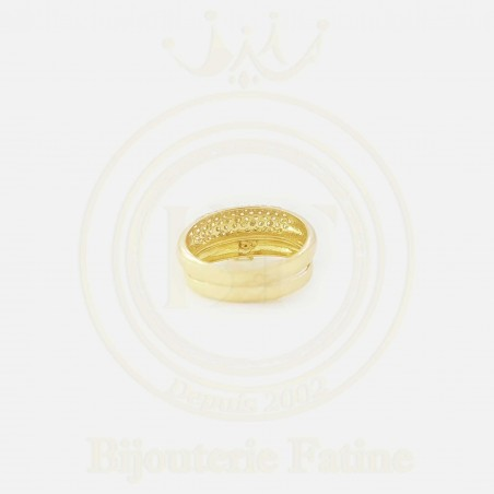Alliance Solitaire trés chic en or 18 carats