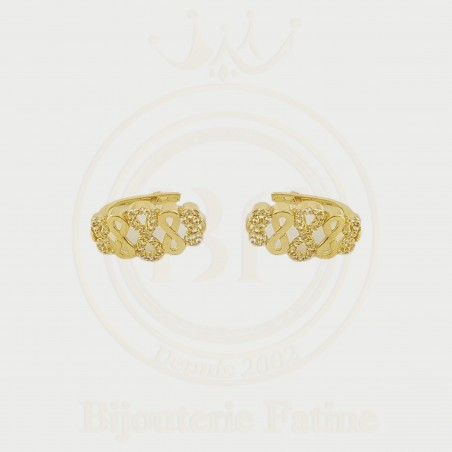 Boucles d'Oreilles 191 chic et très adorables en or 18 carats