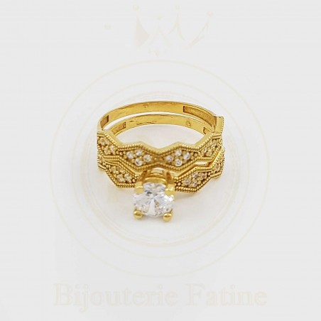 ALLIANCE SOLITAIRE 129 TELLEMENT CHARMANT EN OR 18 CARATS