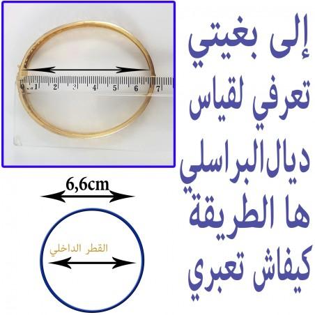 Bracelet 106 chic et très original en or 18 carats