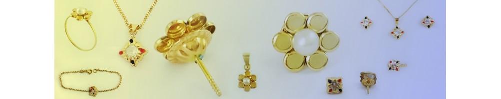 Collection de Chaines et Pendentifs pour enfants en Or 18 carats